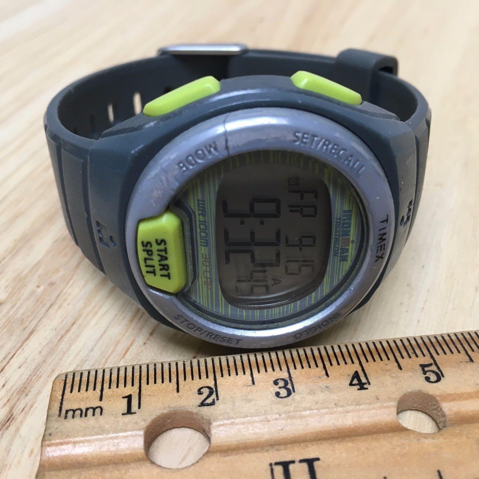 Timex Ironman Triathlon 100m LCD Digital Alarm Chrono Watch Hours~New Battery