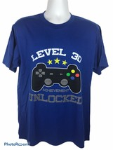 NWT Port And Company Mens Large Blue Level 30 Achievement Unlocked Gamer... - $17.62