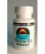Source Naturals Hyaluronic Acid Injuv 70 mg, 60 caps EXP;04/22 - $28.36