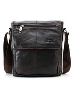 BDF New Fashion Messenger Bag Men Genuine Leather Cross Body Casual Comm... - $66.74