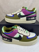 Nike Air Force 1 Shadow SE Cactus Flower Shoes Womens 7 CT1985-500 Olive... - $138.55