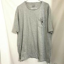 Polo Ralph Lauren Mens Gray Classic-Fit Logo T-Shirt Size XLT - $15.99