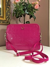 New Coach  Tablet Crossbody Bag Embossed Signature Patent Leather  F6380... - $69.29