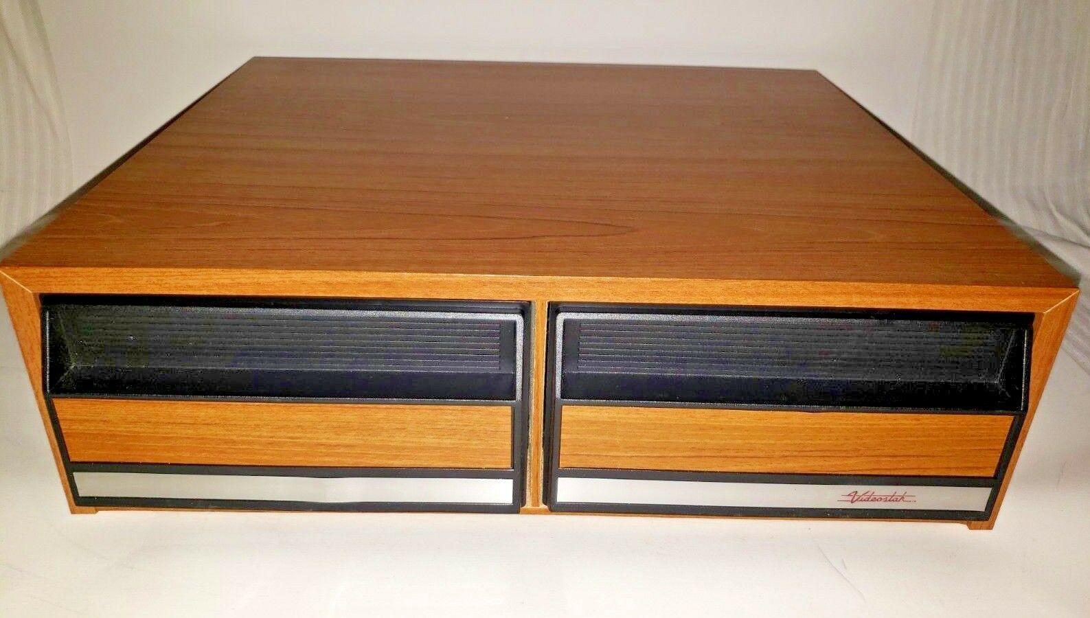 Vintage Videostak Video Cassette Cabinet Holds 24 VHS Tapes..In Original Box image 3