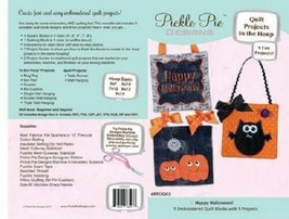 Happy Halloween Quilt Projects in the Hoop Design Pickle Pie Designs - $24.74