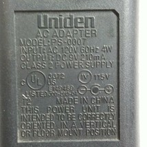 Uniden PS-0007 AC Power Supply Adapter Charger 9VDC 210mA - $6.71