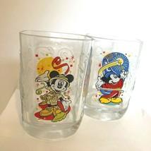 Set of 2 Disney World Studio Glass Millennium 2000 Mickey Mouse McDonald's  - $7.92