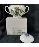 Lenox Orchard In Bloom Sugar Bowl Plum Peach Pear Fruit Design New In Box - $26.95