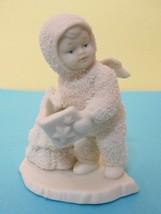 Dept. 56 Snowbabies Figurine Angel w Book & Tree Older - $24.26