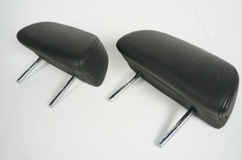 04-2010 bmw 650i e64 e63 rear second row seat headrest leather black set... - $76.88