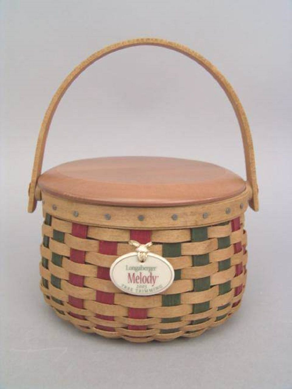 Longaberger Basket Tie On Only Melody Tree Trimming Pottery New In Box Authentic