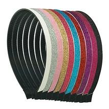 Glitter Headband Sparkle Plastic Bands - $158,55 MXN
