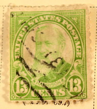 US Stamp #622 13 cent Harrison 1923-31 Used - $0.99