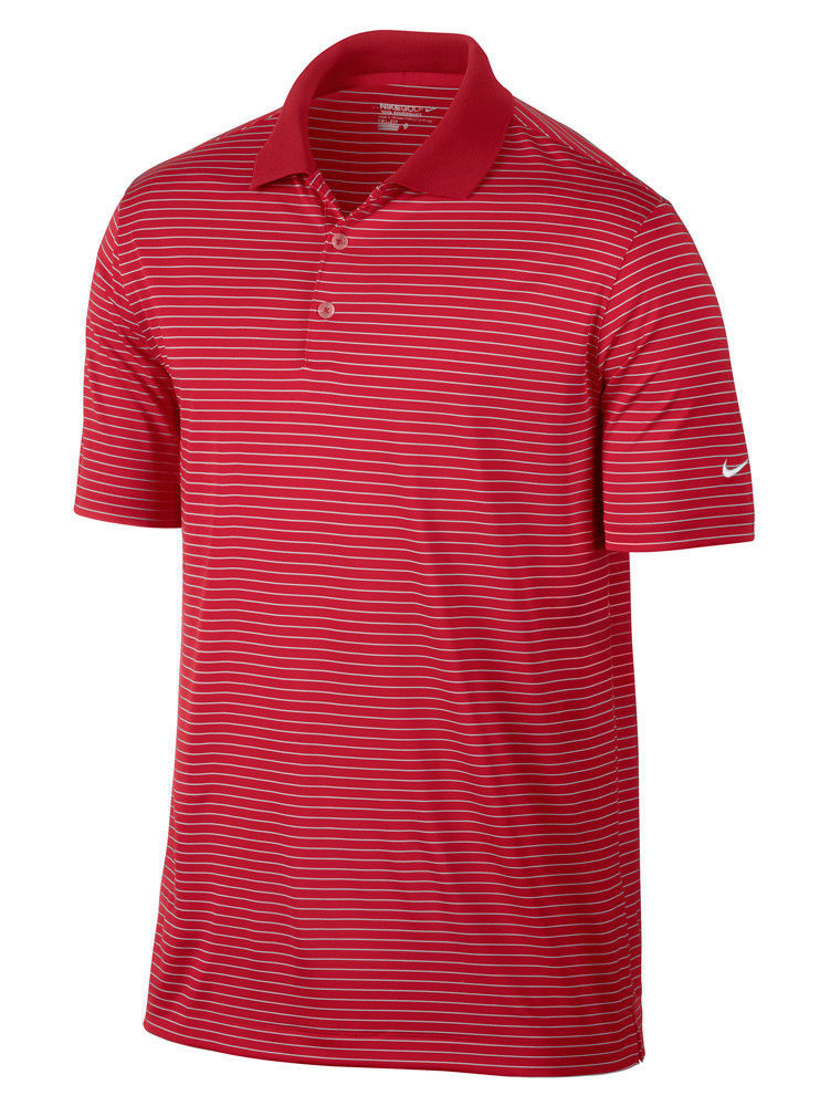 d9f17251 MEN'S SIZE SMALL NIKE GOLF VICTORY STRIPE POLO DRI-FIT 585748 657 closeout  red - $12.99