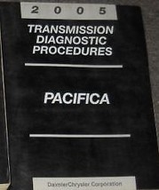 2005 Chrysler Pacifica Transmission Diagnostic Procedure Manual Oem Mopar Book - $15.85