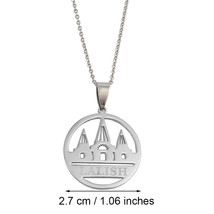 Lalish Pendant Chain Necklaces Gold Color/Silver Stainless Steel Yezidi Faith Pi - $13.13