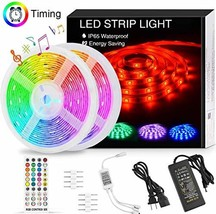 LED Strip Lights Music Sync,32.8FT/10M Waterproof RGB LED Light Strips 5050 300L