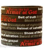 5 Armor of God Wristbands - Ephesians 6:11 Bracelets - Religious Jewelry... - $5.82