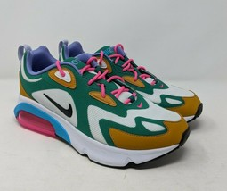 Nike Air Max 200 Mystic Green White-Gold Suede Women's Athletic Shoes AT... - £83.88 GBP