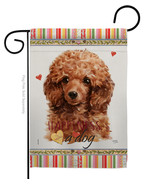 Miniature Poodle Happiness - Impressions Decorative Garden Flag G160209-BO - $19.97