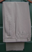 Ralph Lauren Men's Pleated Pants SIZE-34 X 34 COLOR-TAN Solid 100% Polyester New - $149.75
