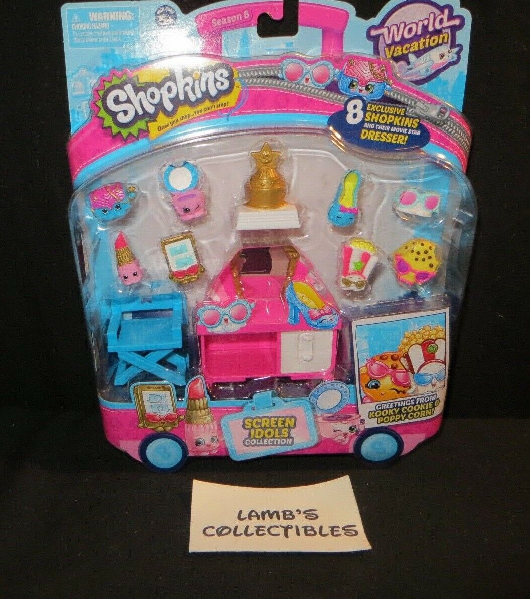 Primary image for Shopkins World Vacation 8 pack Screen Idols collection action figure play toys