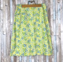 Vtg The Lilly Pulitzer 10 M 60s 70s Bright Yellow Floral Print High Wais... - $32.81