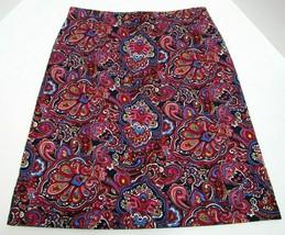 Talbots Womens Sz S A-Line Skirt Paisley Floral Stretch Comfort Waistban... - $29.69