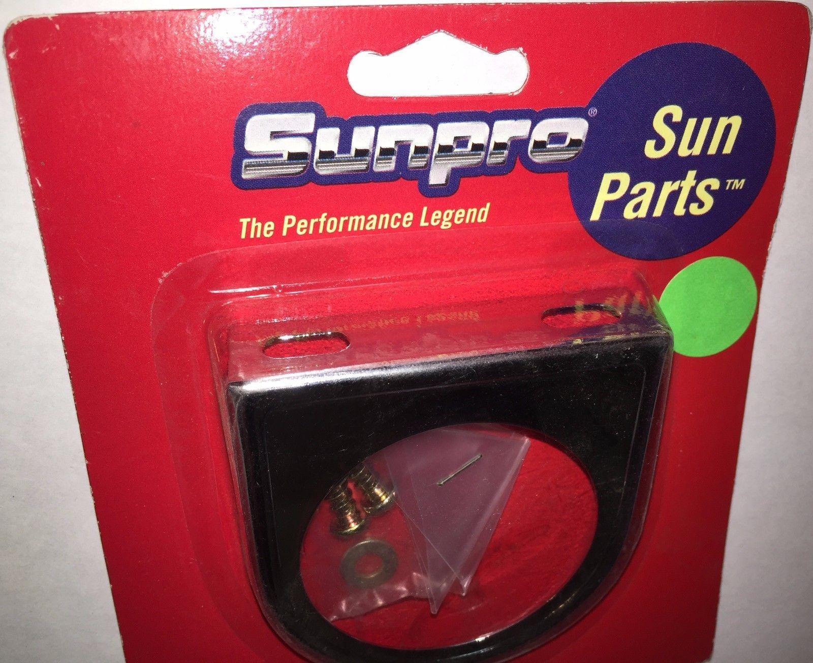 "Lot of 2 Sunpro Single 2"" Gauge Chrome Mounting Panel CP7579; Genuine Sealed OEM"
