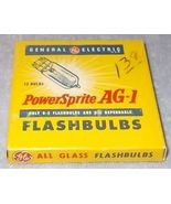 Vintage General Electric GE Power Sprite AG1 Camera Flashbulbs - $5.95