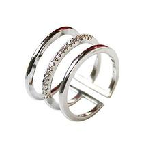 Diamond Ring Simple Wild Fashion Unique Ladies Accessories Concise Style Clover