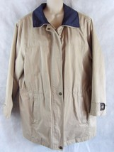 Women London Fog Insulated Removable Liner Tan Barn Coat  Size Large Reg. - $15.85