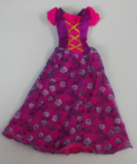 Pink and Purple with Roses Barbie Doll Style Dr... - $2.99