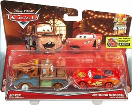 Disney Pixar CARS Mater & Lightning McQueen No Tires Vehicles 2 Pack Die... - $11.87