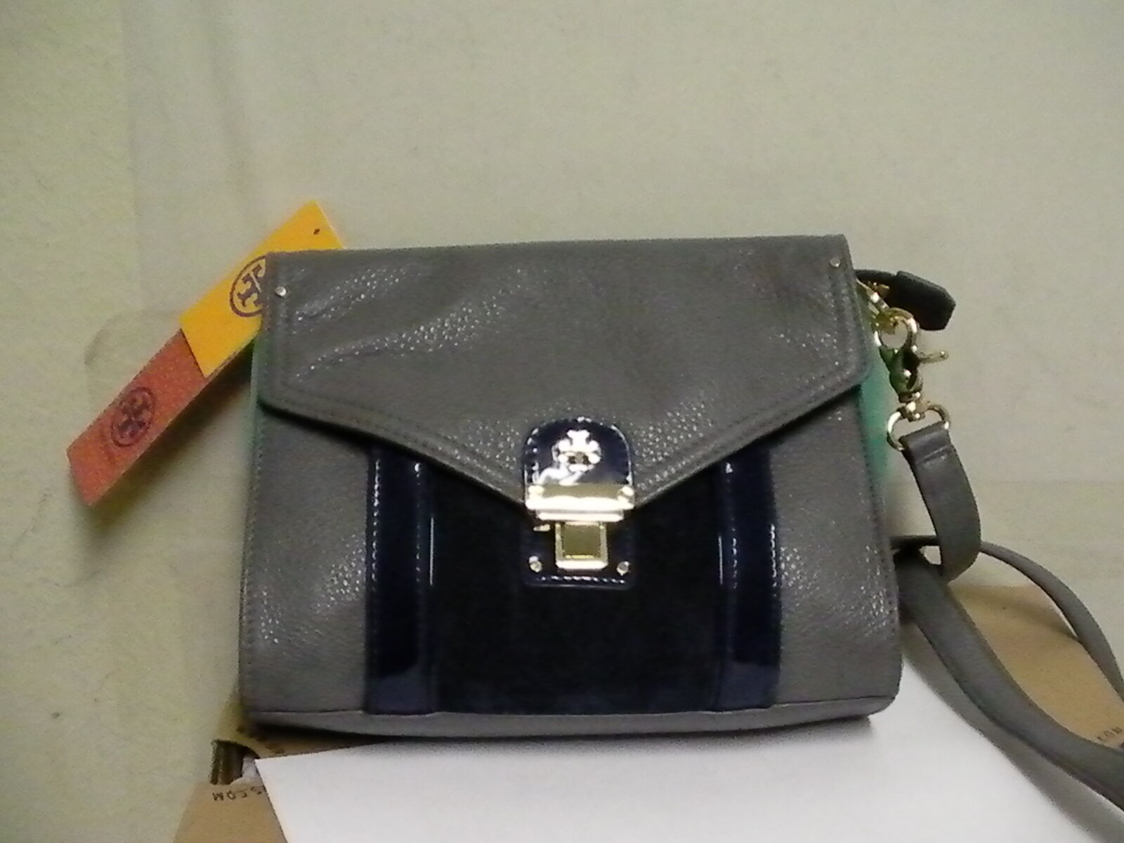 Primary image for Tory burch women crossbody bag rachel clutch evening sky leather new