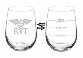 Wine Glass Goblet Two Sided Good Day Bad Day Don't Even Ask RT Respirato... - $25.85