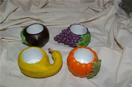 PartyLite 4 Harvest Medley Votive Holders Party Lite - $12.99