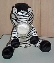 "Plush Soft Zoo Huggable 10"" White Nose Sitting Zebra Needs a Fun PlayMate - $5.89"