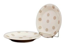 Kate Spade New York All in Good Taste Deco Dot Beige 2-piece Salad Plate Set New - $25.23