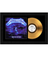 """Ride The Lightning"" by Metallica 17 x 26 Framed 24kt Gold Album w/Album... - $198.95"