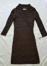 NWT Calvin Klein Women's Small Faux Wrap Sweater Dress New Marled - $149.99