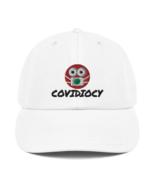 Covidiocy White & Grey Caps - $28.99