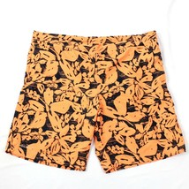 Eddie Bauer Men's Swim Trunks Size L - XL Lined Orange Floral Swimsuit S... - $17.83