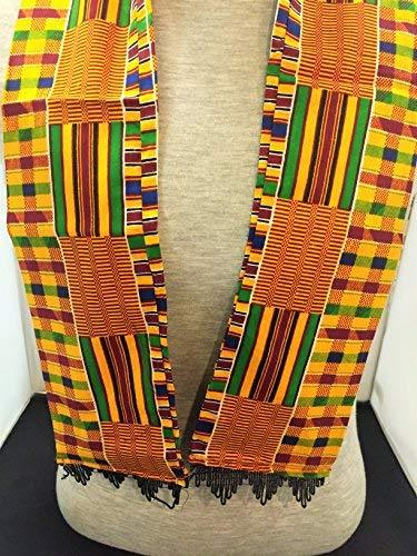 Primary image for African Royal Kente Print Cloth Scarf & Stole Stye 3