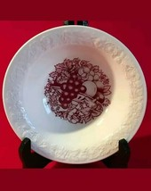 Homer Laughlin USA Harvest Quaker Oats in Red\ White cereal bowl. One bowl. - $7.50
