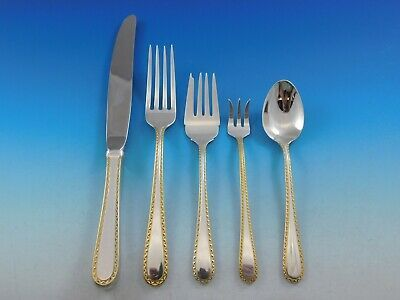 Primary image for Golden Winslow by Kirk Sterling Silver 12 Flatware Service Set 66 pieces