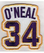 SHAQUILLE O'NEAL No. 34 Patch - Jersey Number Basketball Sew or Iron-On ... - $6.88
