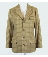 RALPH LAUREN Size 12 Blue Label Wool Windowpane Hacking Jacket - $29.99