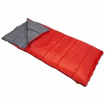 Ozark Trail 50F Warm Weather Sleeping Bag RED Free Shipping - £23.98 GBP