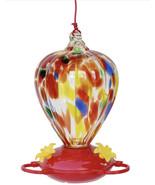 32-oz Art Glass Hummingbird Feeder - £61.88 GBP